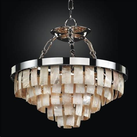 Rectangular Shaped Chandeliers Rectangular Shaped Opalescent Shell Chandelier To Semi Flush Mounts La Jolla Glow 174 Lighting