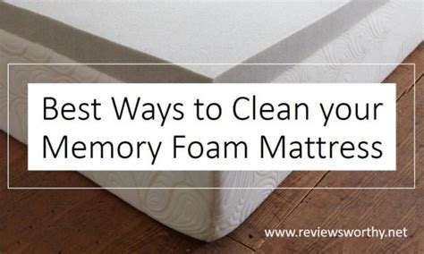 best ways to clean your memory foam mattress from stains