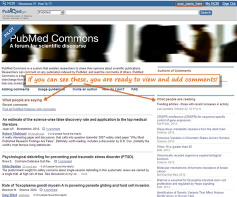 joining pubmed commons a step by step guide ncbi insights