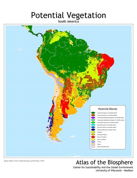 america vegetation map center for sustainability and the global environment