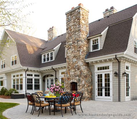 Home Design Boston - outdoor fireplaces attached to homes boston design guide