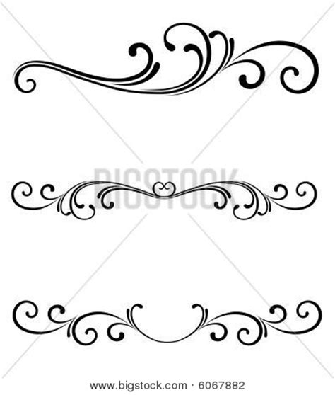 scroll page ornament stock vector stock photos bigstock