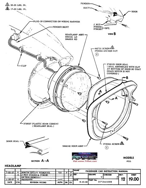 1955 chevy bel air headlight wiring diagram 1963 chevy