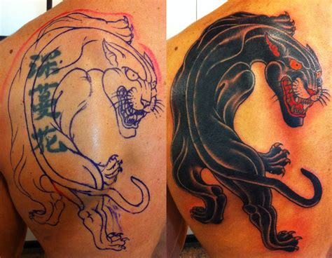 panther cover up tattoo designs lazer removal