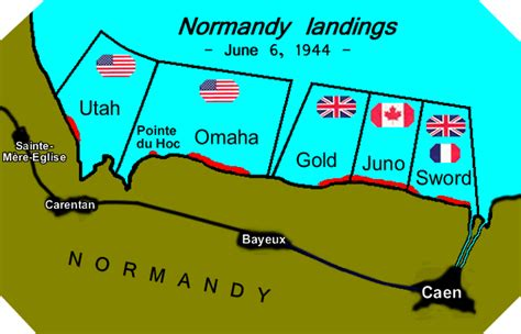 d day map normandy landing beaches of d day