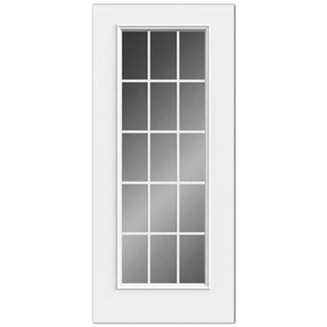 Reliabilt 15 Lite Grills Between Glass Low E Inswing Steel Steel Exterior Doors With Glass