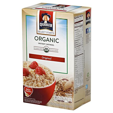 Oat Meal Organik Non Instant quaker oats organic regular instant oatmeal calories nutrition analysis more foodfacts