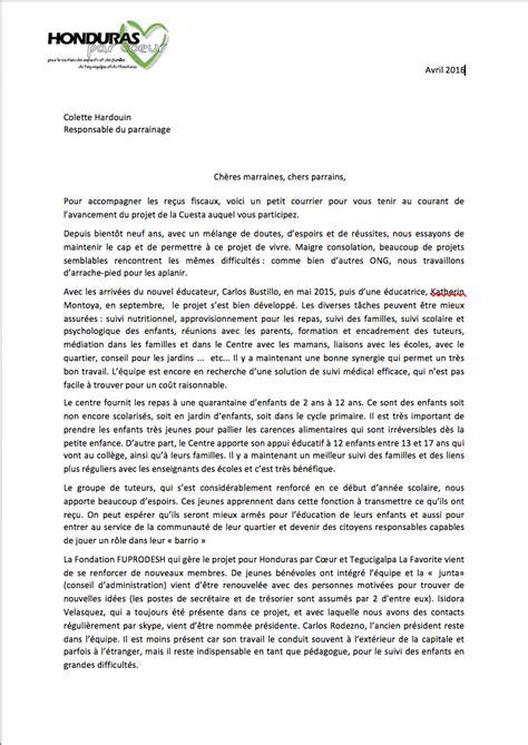 Lettre De Résolution D Entreprise Nouvelles Du Parrainage 2016