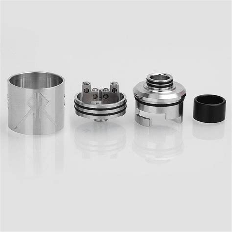 The Recoil Rebel Rda 25mm By Grimm Green Authentic 1 grimm green x ohmboyoc recoil rebel rda silver 25mm atomizer