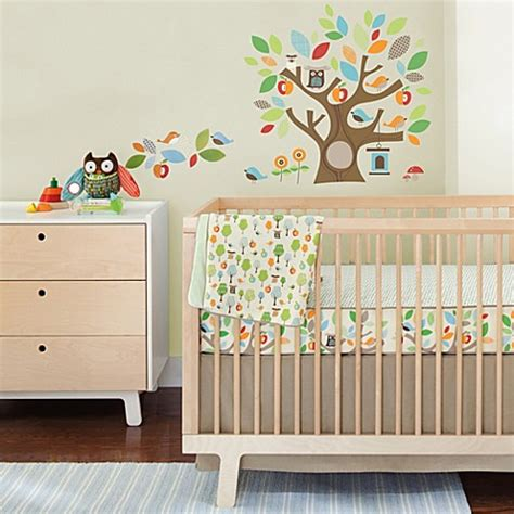 skip hop bedding skip hop 174 treetop friends crib bedding set with decals