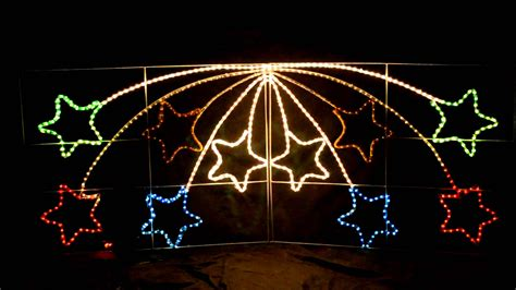 giant shooting star christmas outdoor light youtube