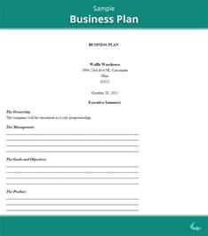 printable business plan template business plan template sle printable
