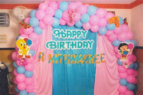 balloon decoration for birthday at home birthday decoration ideas at home with balloons party