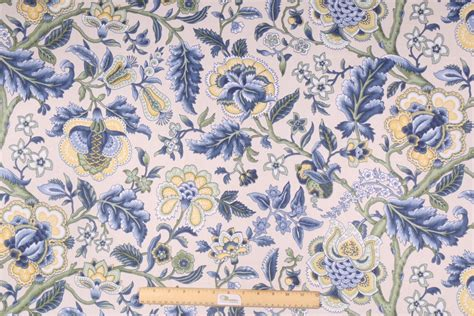 waverly drapery fabric waverly imperial dress printed cotton drapery fabric in blue