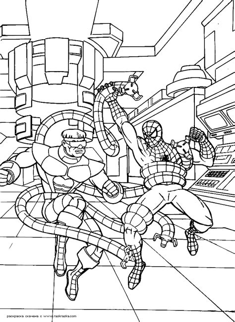 spiderman christmas coloring page spiderman info coloring home