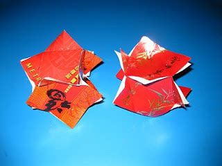Cny Paper Craft - new year decorations from angpow paper