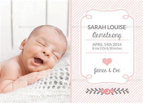 baby photo card templates photo card template 8 free printable word pdf psd