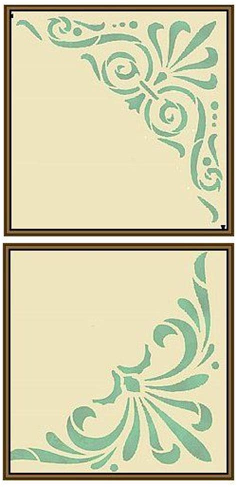 Kz08 Stencil Flower D Stensil Cetakancraft Scrapbooking 608 best silhouette borders and corners images on cutting files die cutting and