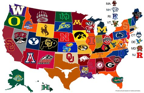college map college football sbnation