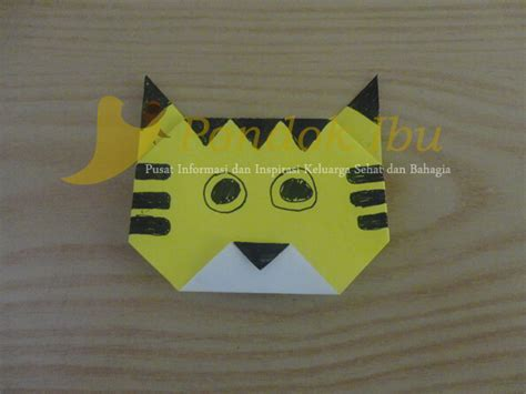 cara membuat origami singa membuat origami harimau