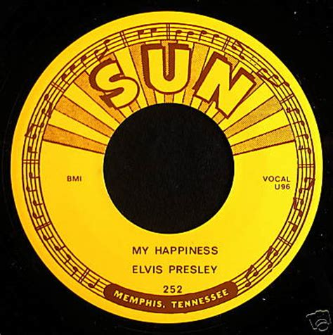 My Records Popsike Elvis 45 My Happiness Sun Records Auction Details