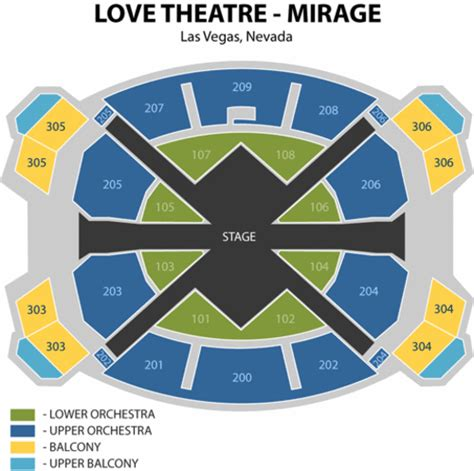 the mirage seating chart mirage theatre seating chart mirage theatre