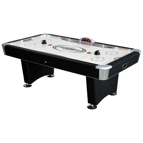 hathaway air hockey table hathaway stratosphere 7 5 ft air hockey table with