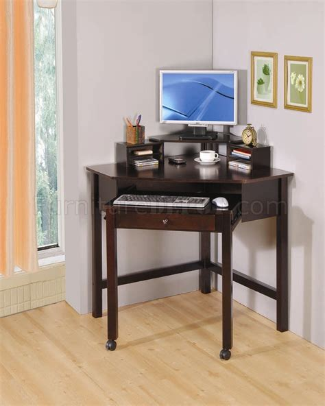 rich cherry finish modern home office small corner desk