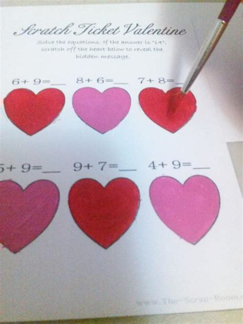 scratch valentines card diy scratch valentines