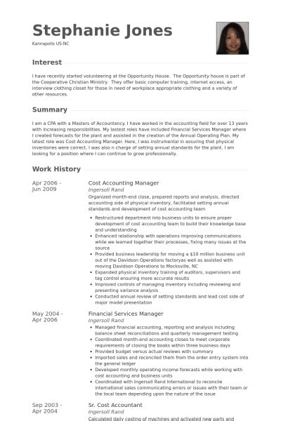 resume exles for cost accountant resume ixiplay free