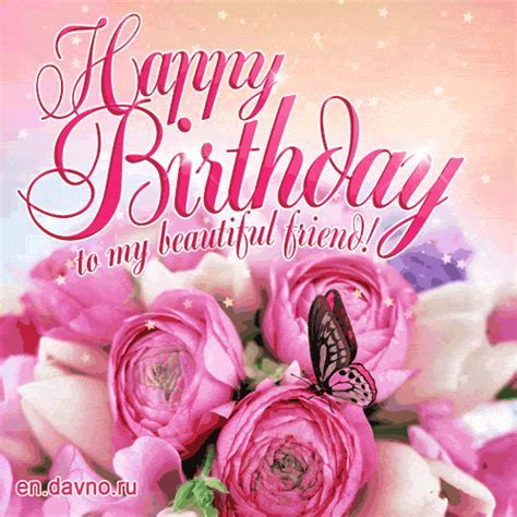 Happy Birthday to my Beautiful Friend GIF   Download on Davno