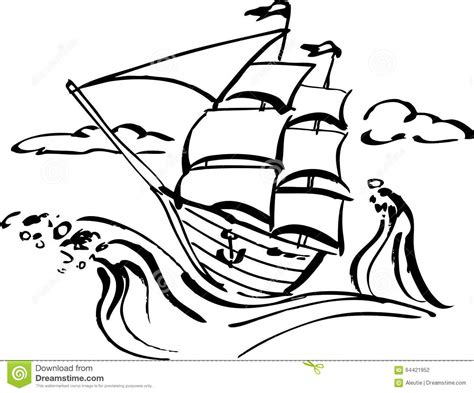 cartoon boat in storm ship in storm clip art cliparts