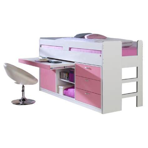 bureau 3 en 1 lit mi hauteur combin 233 90x200 cm avec 3 tiroirs 1