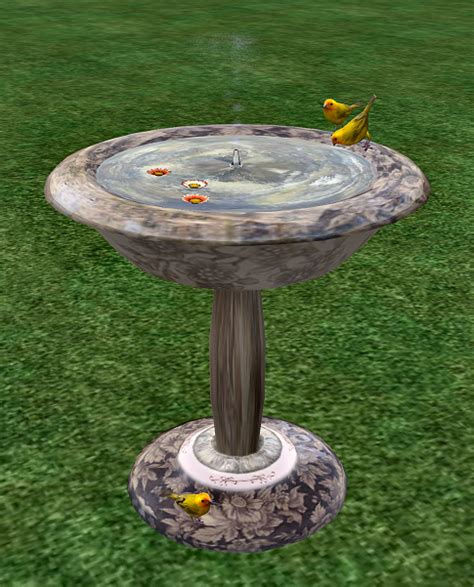 second assets bird bath