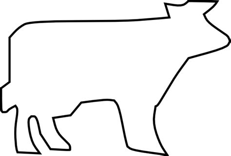 Cow Drawing Outline by Cow Outline Clip At Clker Vector Clip Royalty Free Domain