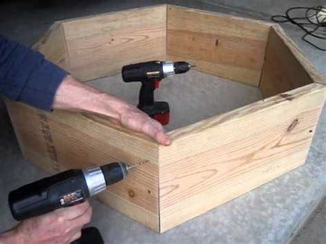 build  raised bed hexagon square foot vegetable