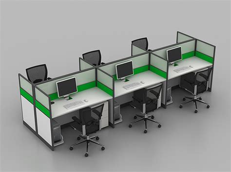 multiple workstation office cubicle ideas google search space saving dual linear cubicles modern partition office