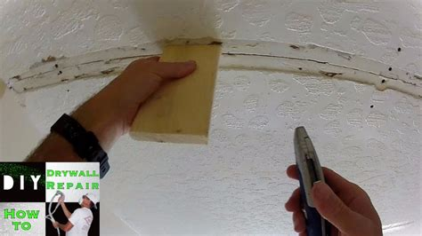 How To Ceiling Repair Trick Ceiling Sagging Tape Joint How To Patch A In The Ceiling