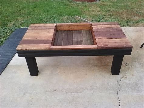 pallet coffee table with planter box pallet furniture