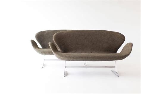 swan sofa pair of arne jacobsen swan sofas for fritz hansen for sale