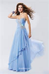 pretty a line strapless sweetheart beaded long blue