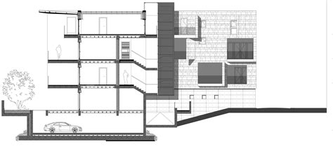 residential building section gallery of residential building brancacci alessandro