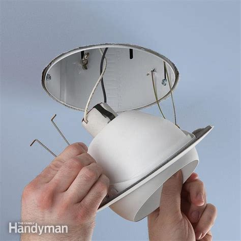 High Hat Light Fixture Upgrade A Recessed Light Fixture The Family Handyman