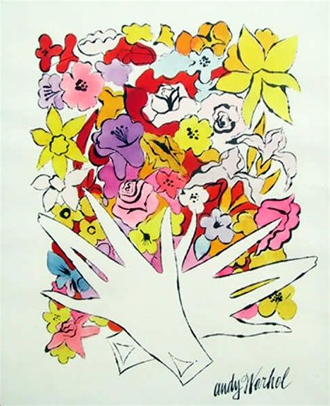 fiori warhol flowers and gloves amaze andy warhol illustration