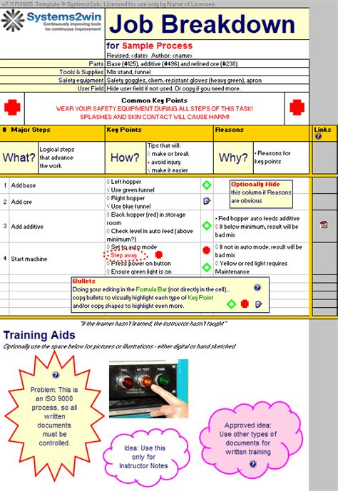 work instruction template baskan idai co