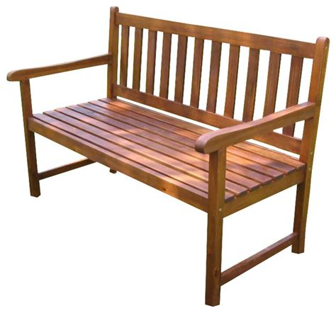 4 foot bench international caravan 4 foot outdoor wooden patio bench
