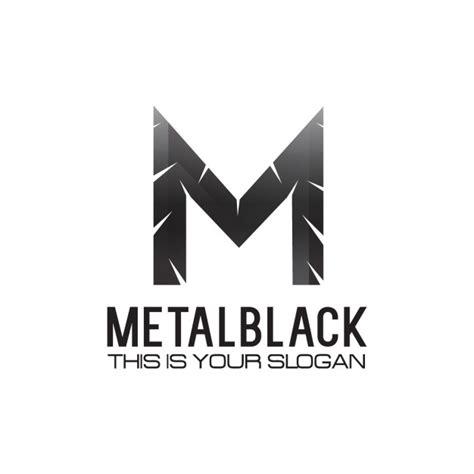 M Vector Logos Brand Logo - black metallic letter m logo vector free