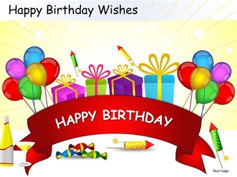 Happy Birthday Wishes Powerpoint Presentation Templates Happy Birthday Powerpoint Template