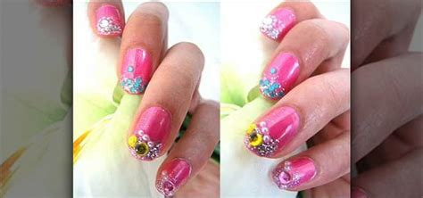 how to frost your pink nails with diamonds 171 nails