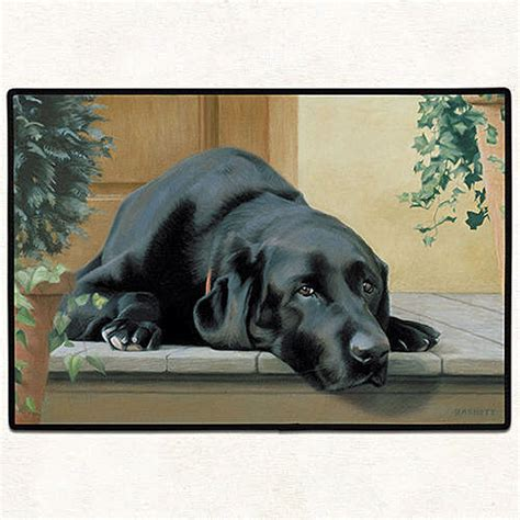 Labrador Doormat by Black Lab Doormat Rubber Backed Door Mat 27 Quot X 18